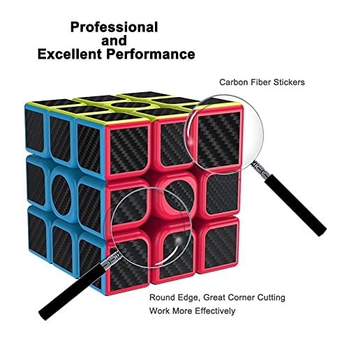 Smooth Magic Carbon Fiber Sticker 5.7 Black New Rubix Cube Speed Cube 3x3x3