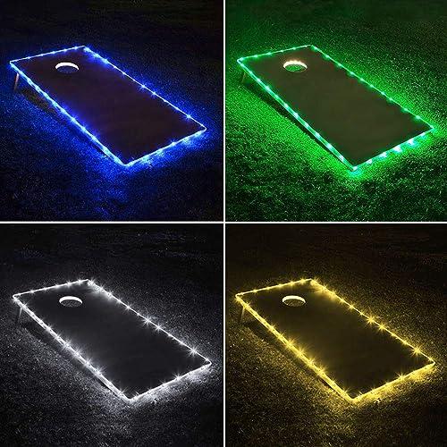 Buy TongYu Set of 2 Cornhole Board Edge Night Lights,Light Up LED