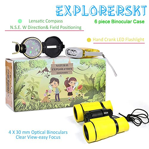 Kids Binoculars Norsy Toys Outdoor Exploration Set for Boys /& Girls Age 3-12 year old Great Gifts for Your Outdoor Lover Grandkids and Nephews Birthday Kids Explorer Kit Christmas /& Hiking