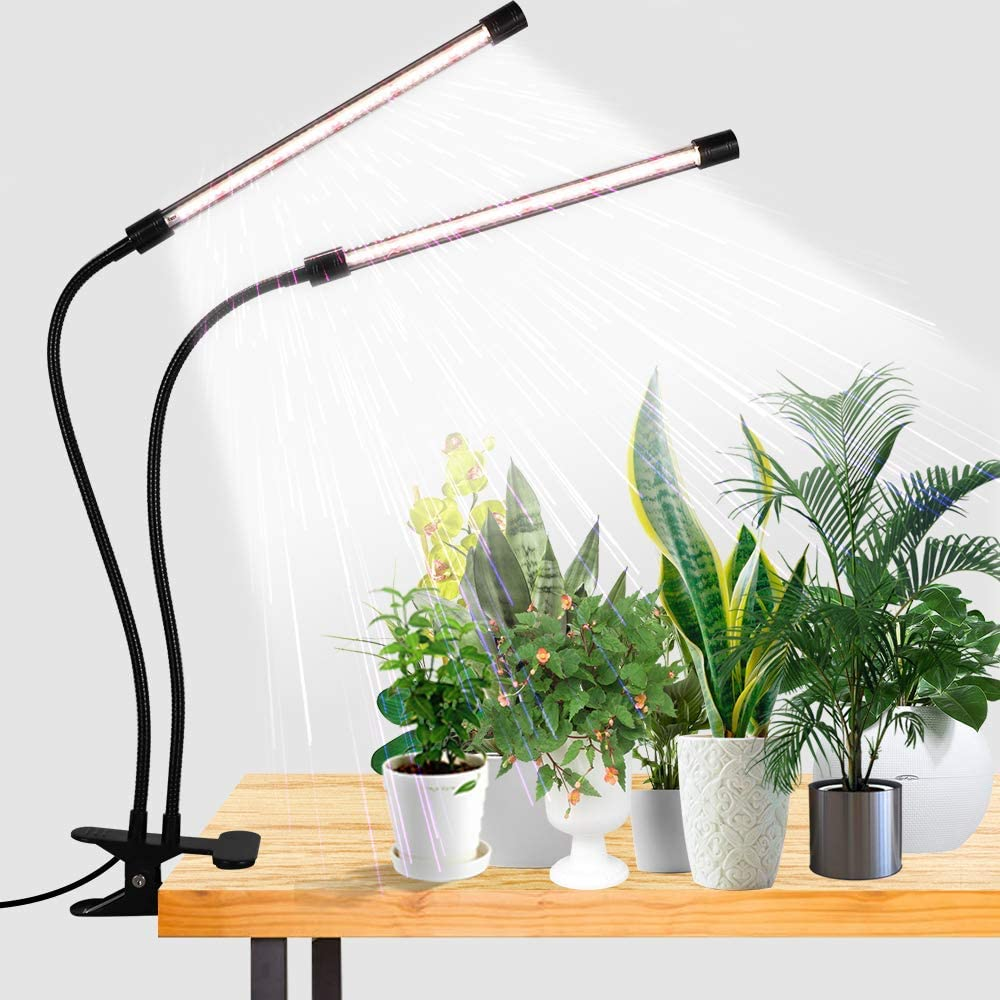 Buy LED Grow Light,6000K Full Spectrum Clip Plant Growing Lamp with White  Red LEDs for Indoor Plants,5-Level Dimmable,Auto On Off Timing 4 8 12Hrs  Online in Netherlands. B085CDPSMR